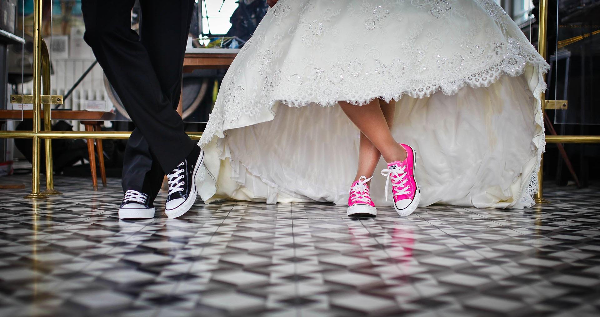 sneakers wedding theme Rock & Roll